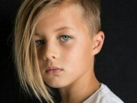 Daring Dude – Hard Part, Side Fringe, and Fade boys haircuts