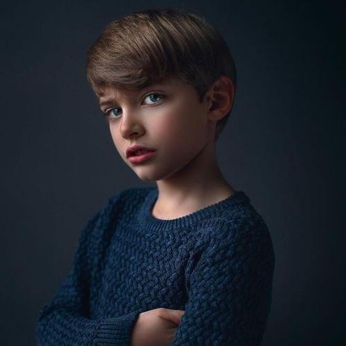 Junior Executive – Medium Length Manicured Sides boys haircuts