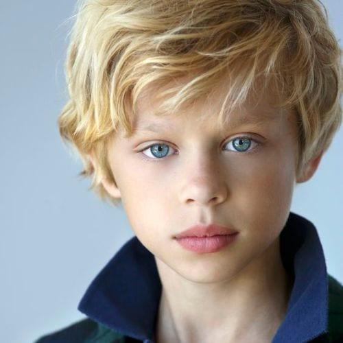 Junior Heartthrob boys haircuts – Blonde Messy Bangs