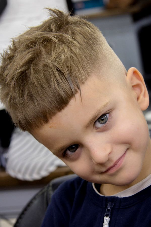 Messy Crop For Little boys haircuts