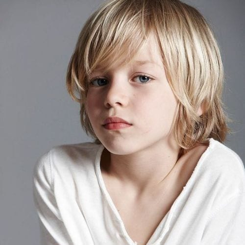 Picture Perfect– Shoulder Length boys haircuts for Thin Hair