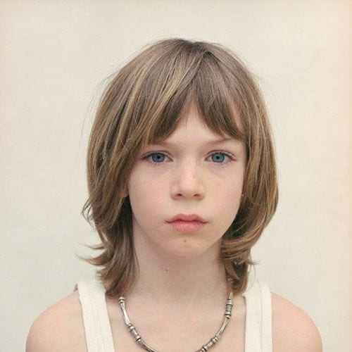 Youthful Flair– Shoulder Length boys haircuts with Bangs