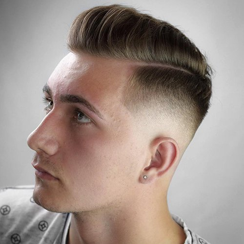 High Skin Fade Comb-Over