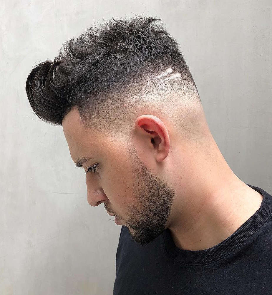 high skin fade Disconnected Buzz Cut