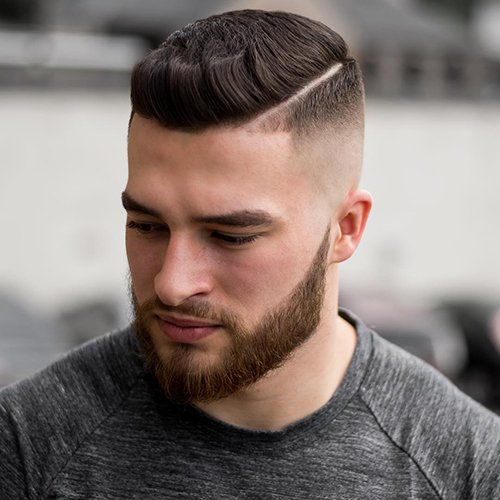 High skin Fade With Part
