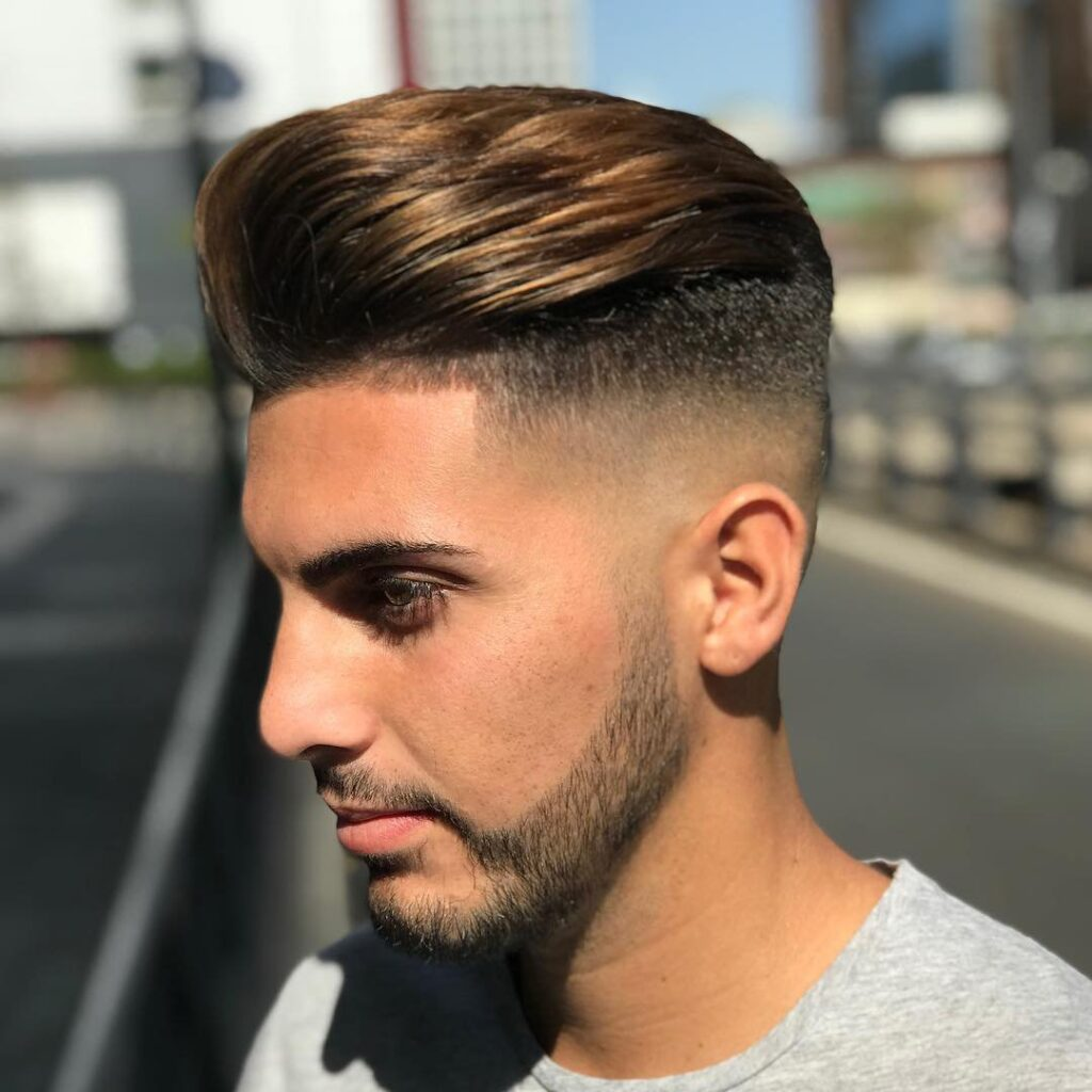 High skin Fade With Quiff