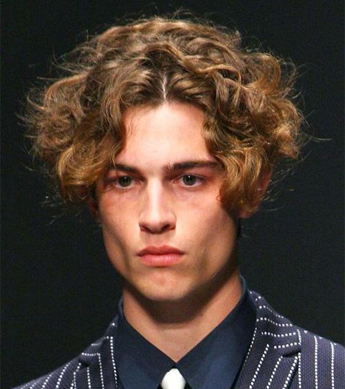 Curly Curtain Haircut