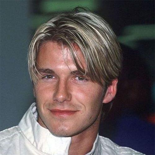 David Beckham curtain haircut