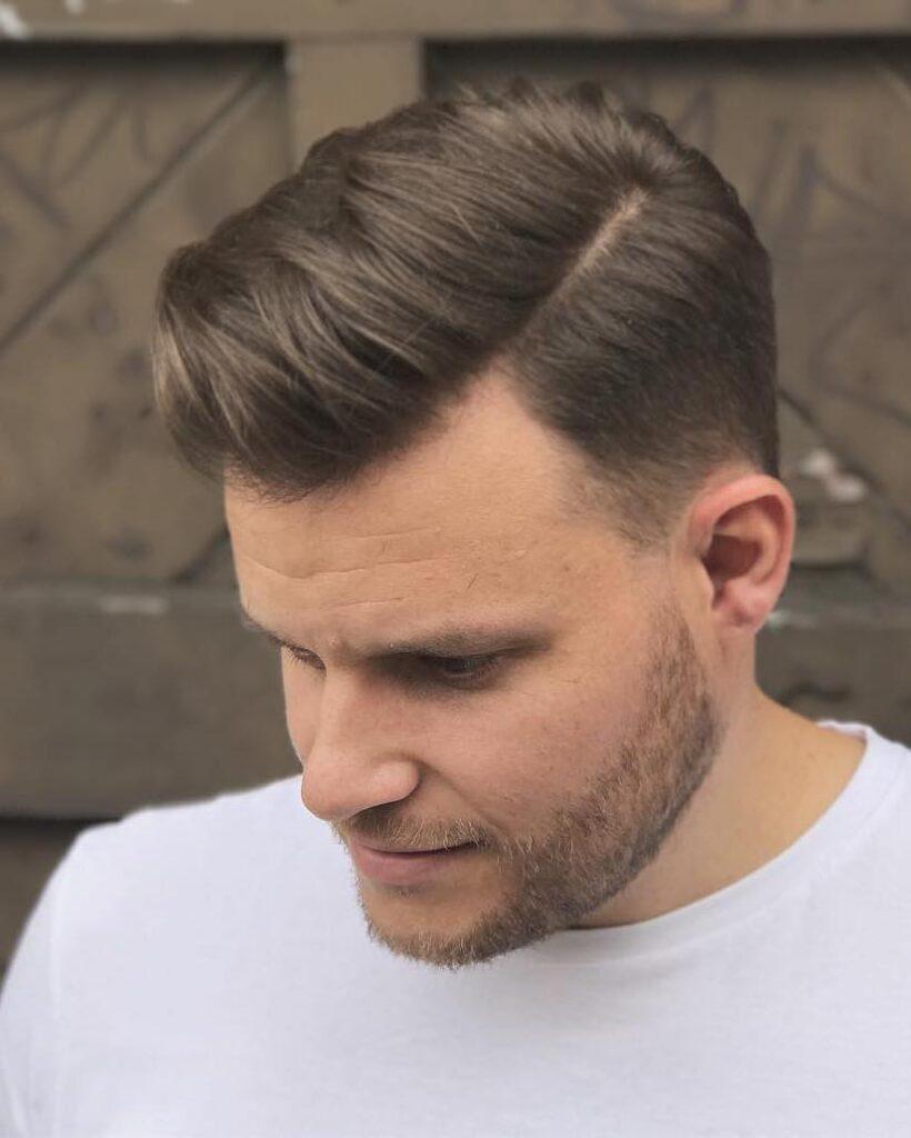 Classic Rusty Mid Volumed Comb Over