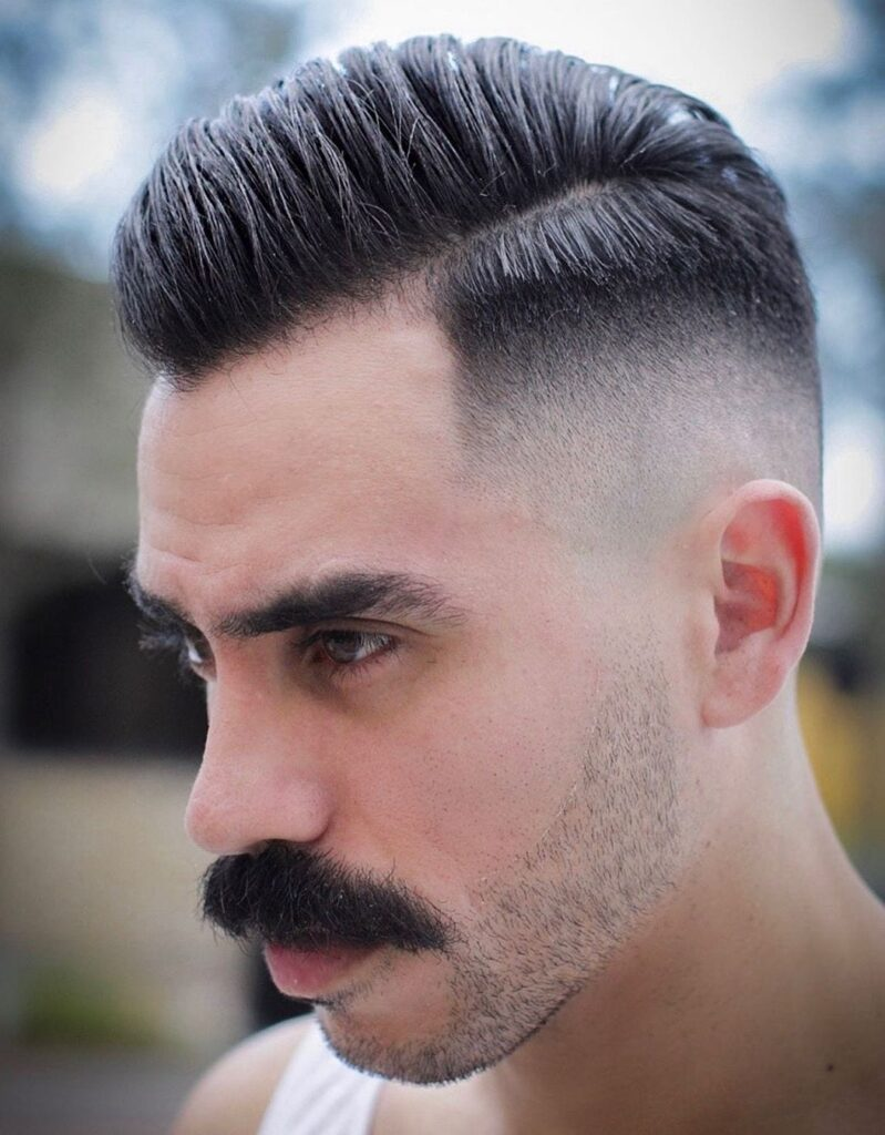 Modern Taper Faded Comb Over