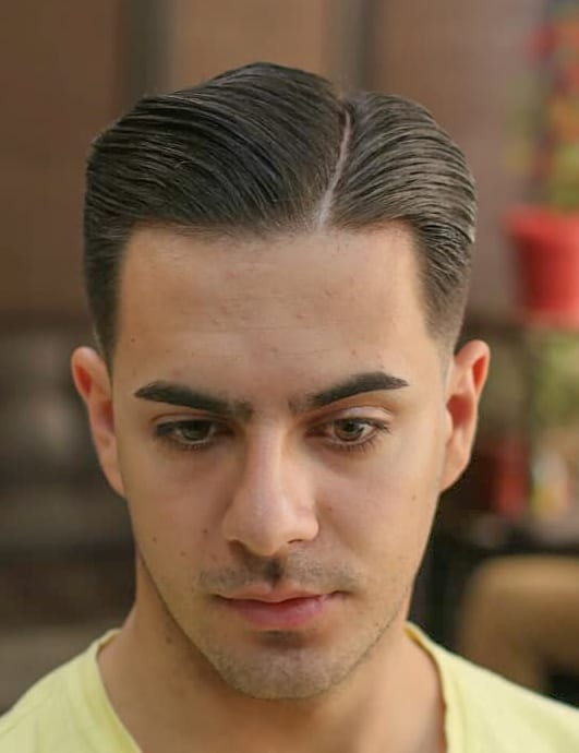 Neat Comb Over and Tapered Sides