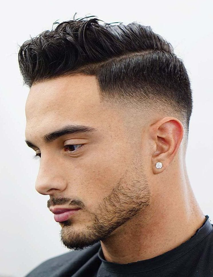Comb Over Side Part with Drop Fade