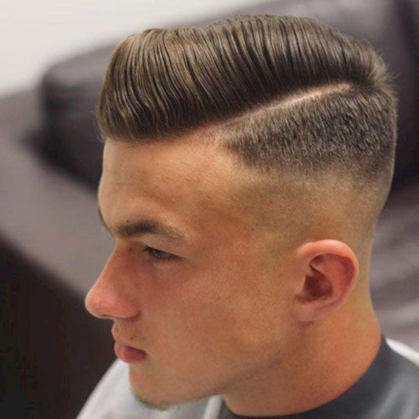 Comb Over Undercut Fade