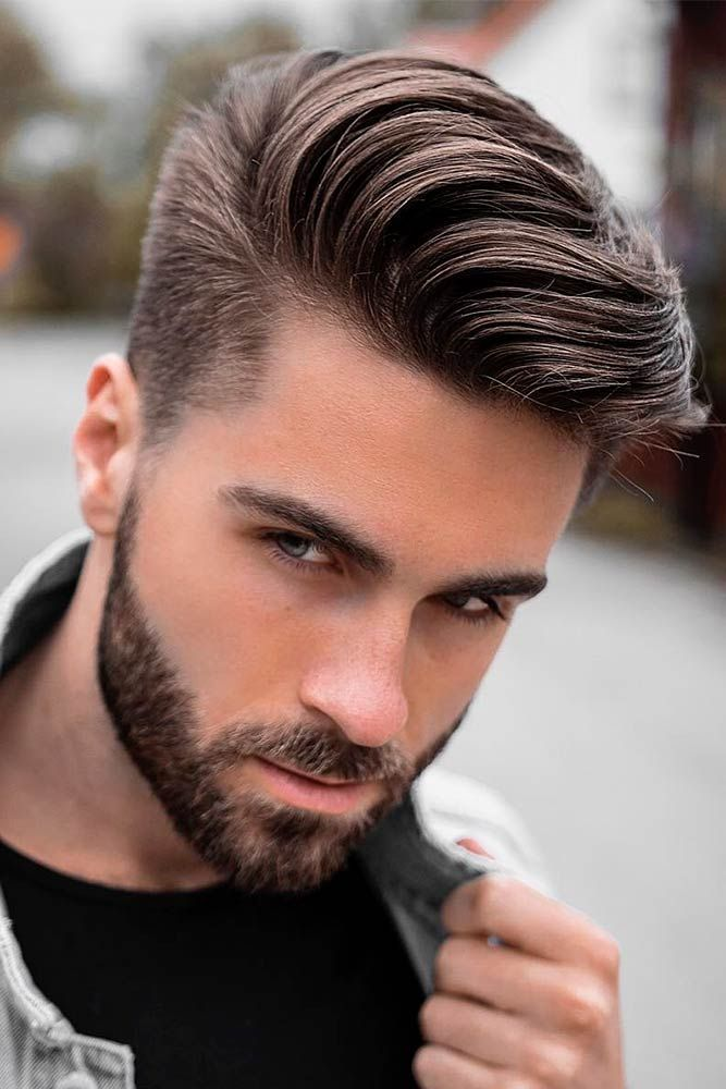Comb Over With Beard Men