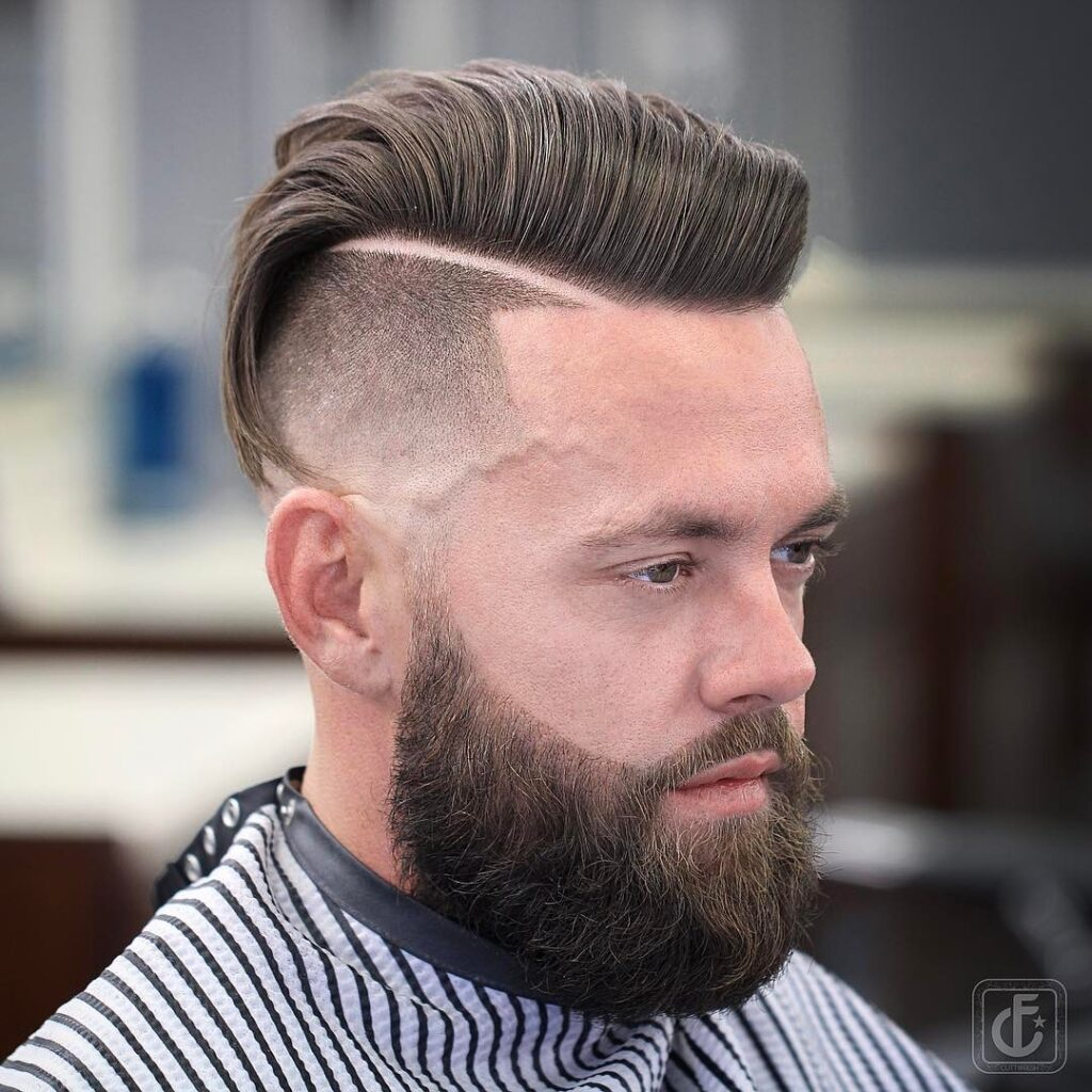 Comb Over With Hard Part haircut