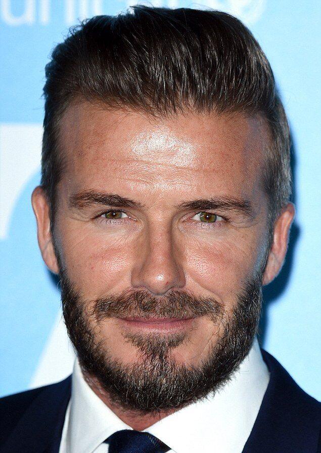 David Beckham van dyke beard