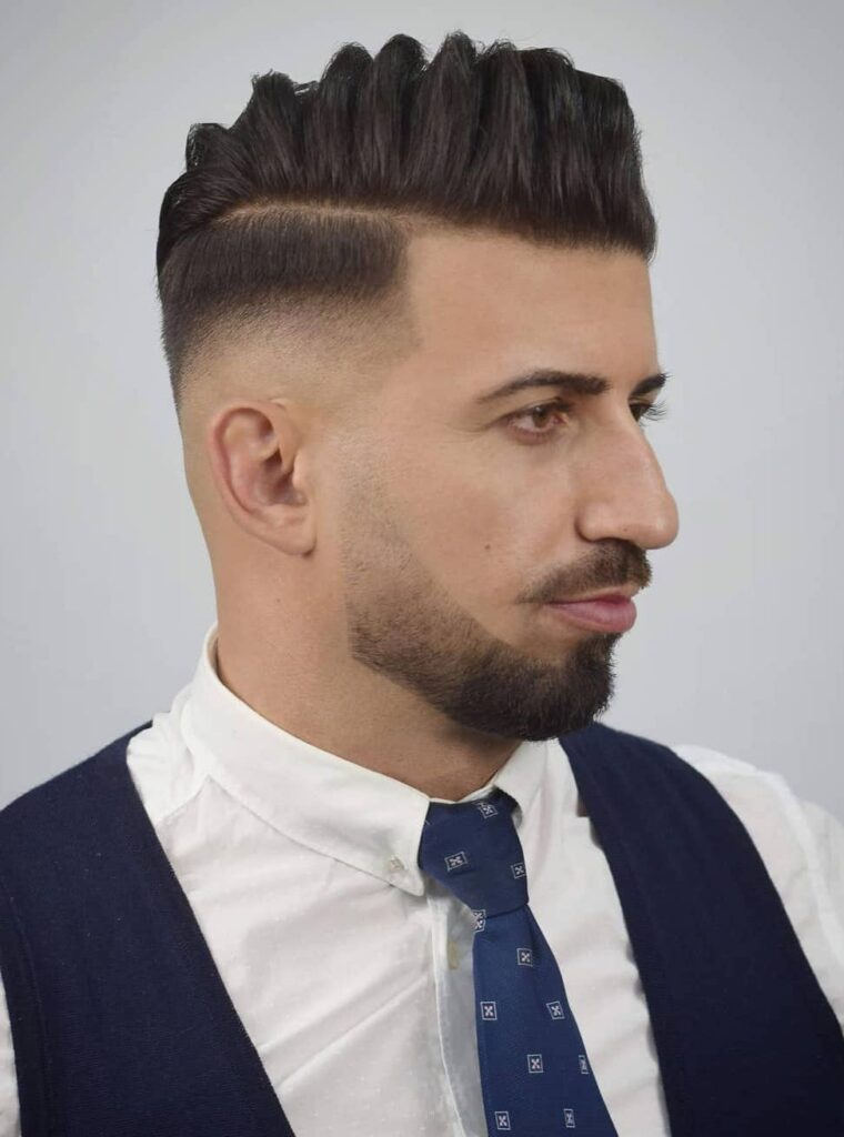 Layered Comb Over with Drop Fade