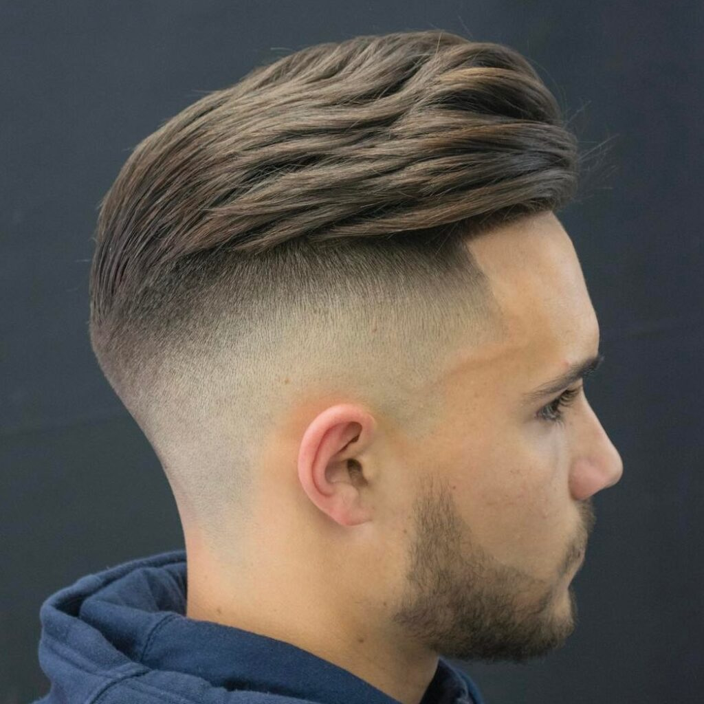 Slicked Back Undercut Fade Hairstyles