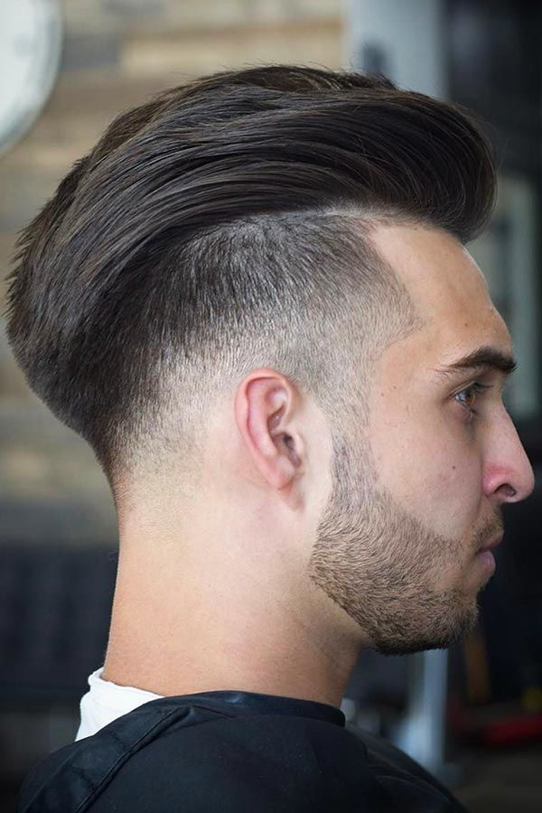 undercut-fade-haircut-tapered-brushed-back-texture