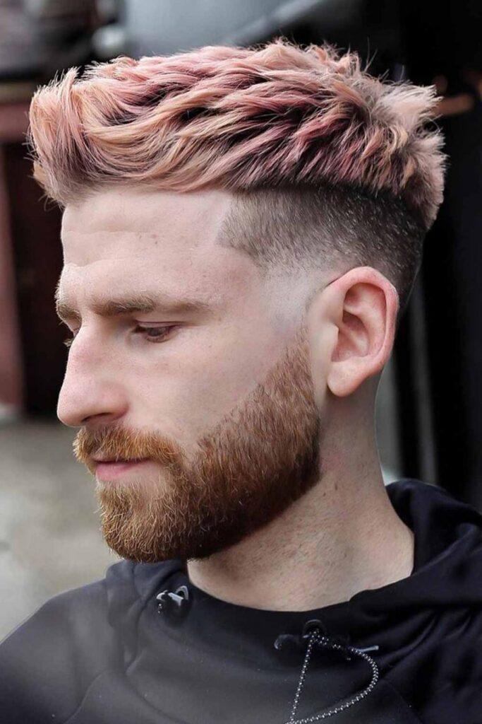 undercut-fade-short-spiky-pink-quiff