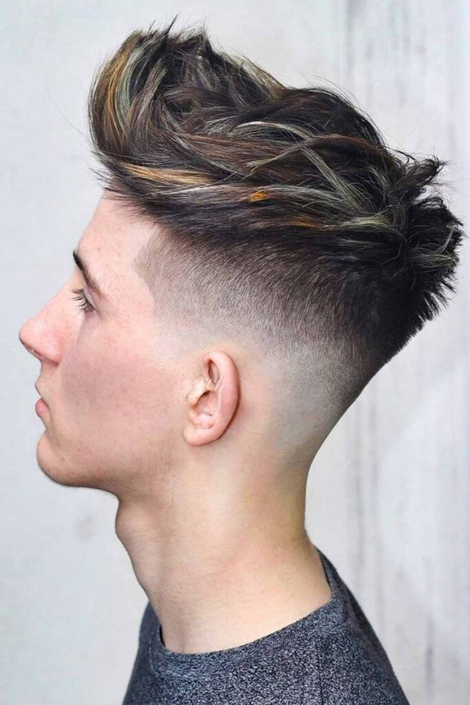 undercut-fade-spiked-highlighted-faux-hawk