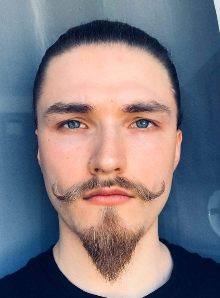 van dyke beard Coned Goatee with Perfect Mustache