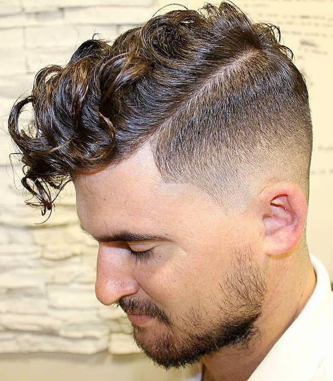 Wavy & Curly Comb Over haircut