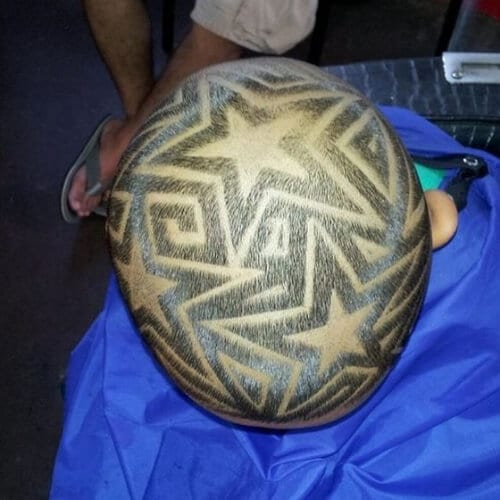 All Over Star Designs Haircuts