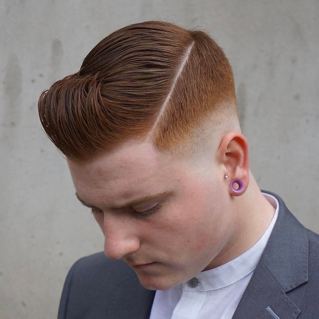 Faded Comb Over Side Part hispanic haircuts