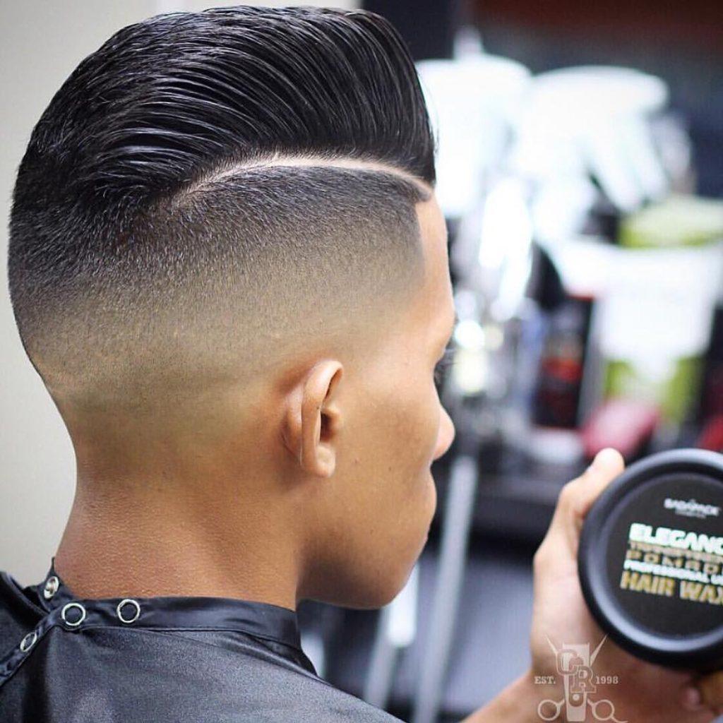Mid Skin Shadow Fade latina haircut