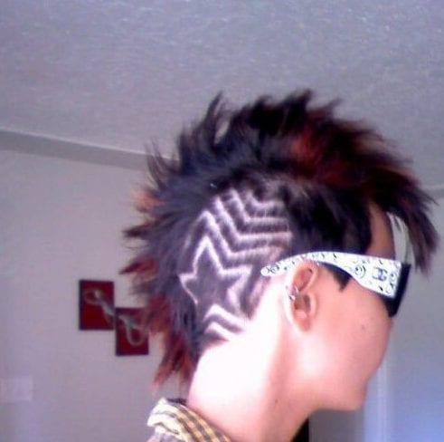Red Mohawk star-deisgns-haircuts
