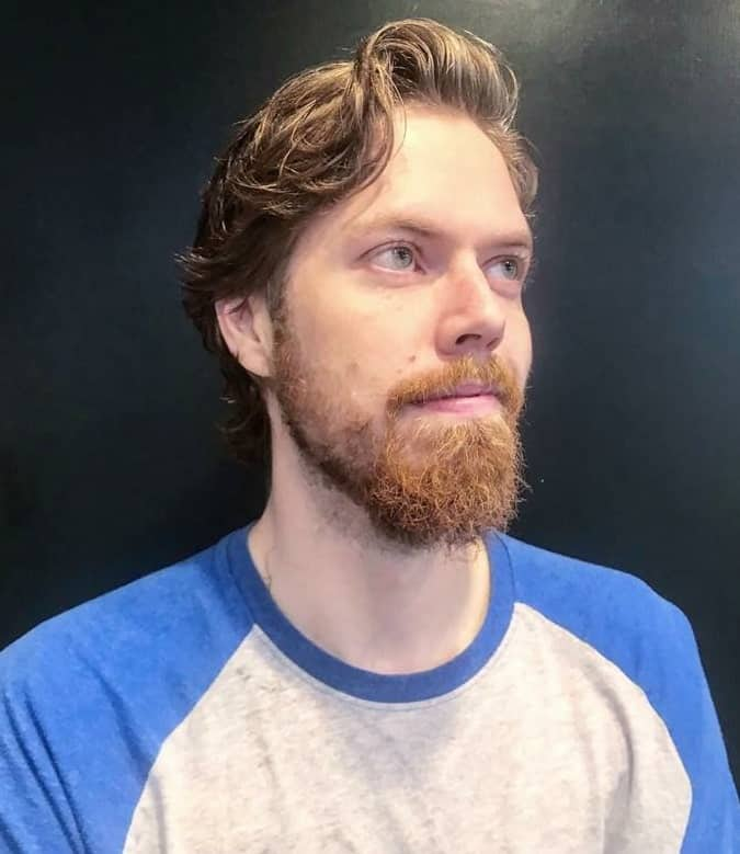 Side Comb Over With Beard