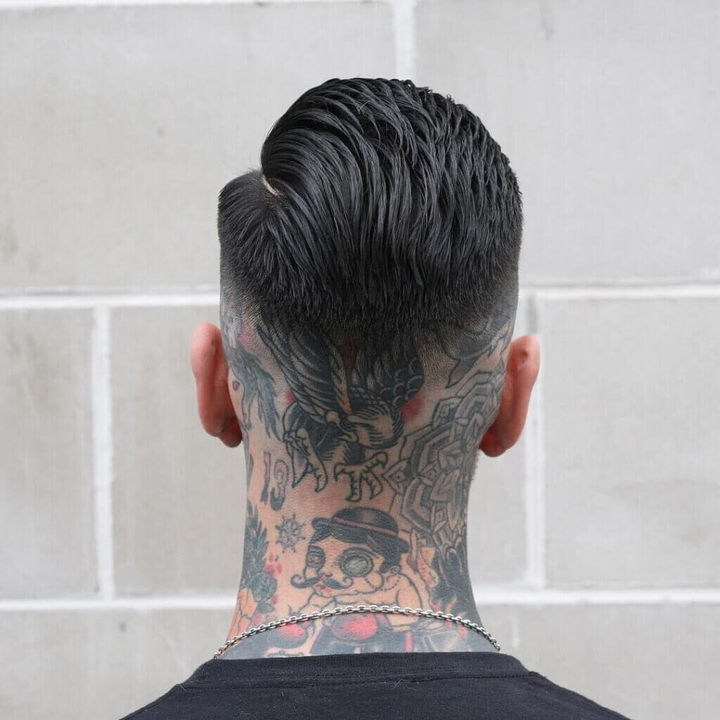 Side Part Skin Fade mexican haircut