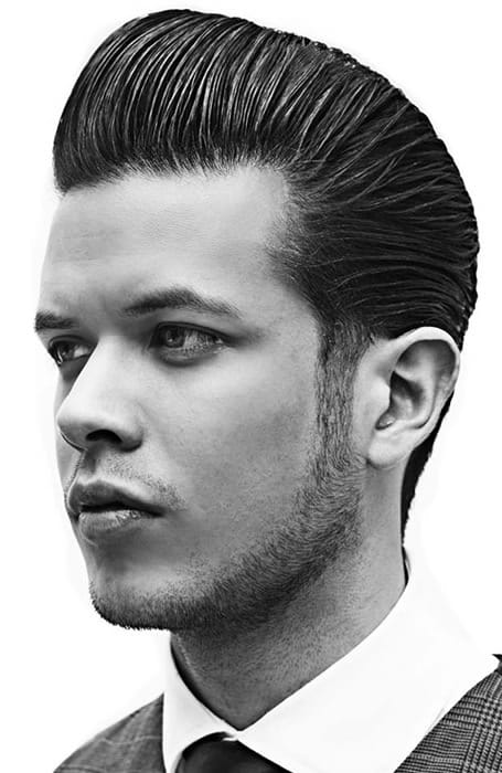 Slick Back Pompadour hispanic haircuts
