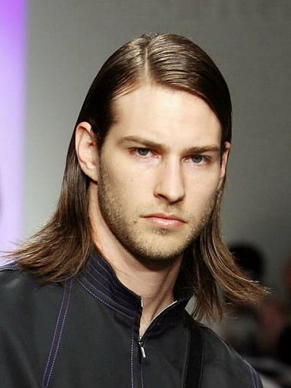 Straight and Controlled feathered hair men