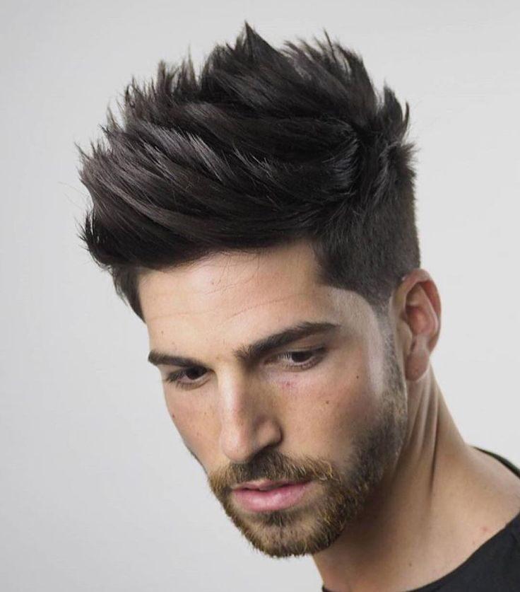 Textured Quiff hispanic men's haircuts